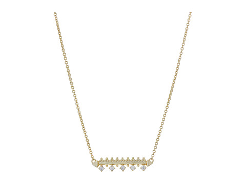 Kendra Scott Anissa Necklace - Gold Metal/White Cubic Zirconia