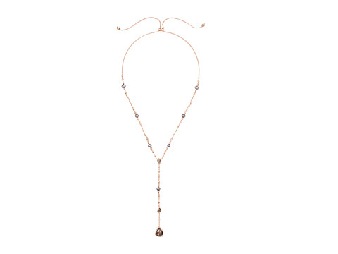 Kendra Scott Lucielle Necklace - Rose Gold/Crystal Gray Illusion Cubic Zirconia
