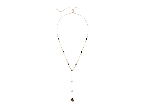 Kendra Scott Lucielle Necklace - Brass/Black Granite Cubic Zirconia