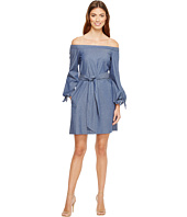 Donna Morgan - Off Shoulder with Tie Sleeve Dress