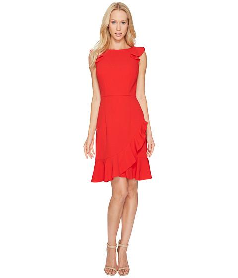 Donna Morgan Sleeveless Crepe Dress with Ruffle Hem
