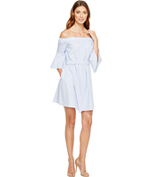 Donna Morgan - Off Shoulder Bell Sleeve Dress with CF Inverted Pleat