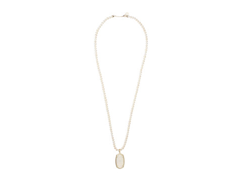 Kendra Scott Marlowe Necklace - Gold/Crystal Ivory Illusion