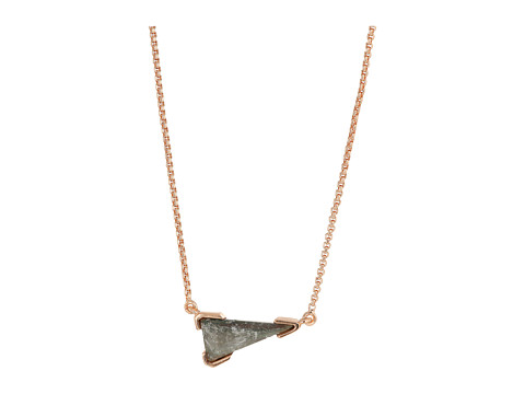 Kendra Scott Racquel Necklace - Rose Gold/Crystal Gray Illusion