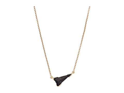 Kendra Scott Racquel Necklace - Brass/Black Granite