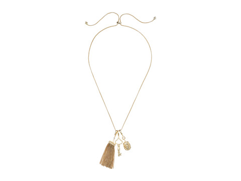 Kendra Scott Zosia Necklace - Gold Metal/White Cubic Zirconia