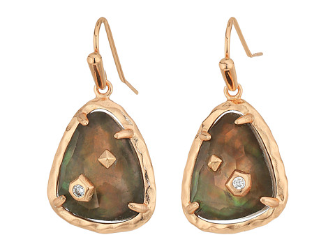 Kendra Scott Asher Earrings - Rose Gold/Crystal Gray Illusion Cubic Zirconia