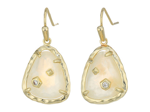 Kendra Scott Asher Earrings - Gold/Crystal Ivory Illusion Cubic Zirconia