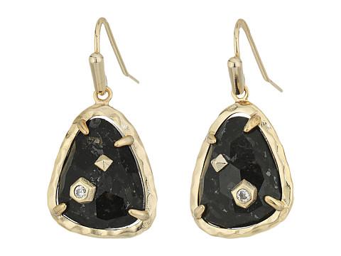 Kendra Scott Asher Earrings - Brass/Black Granite Cubic Zirconia