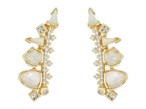 Kendra Scott Clarissa Earrings - Gold/Ivory Color Mix Cubic Zirconia