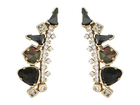 Kendra Scott Clarissa Earrings - Brass/Black Color Mix Cubic Zirconia