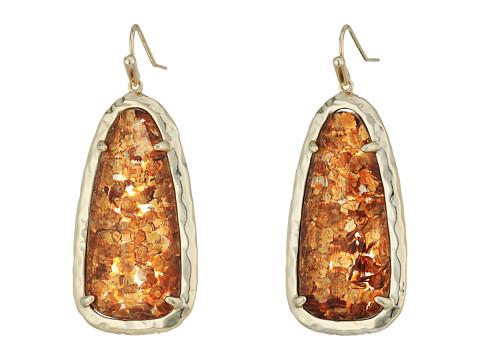 Kendra Scott Lyn Earrings - Brass/Crushed Gold Mica
