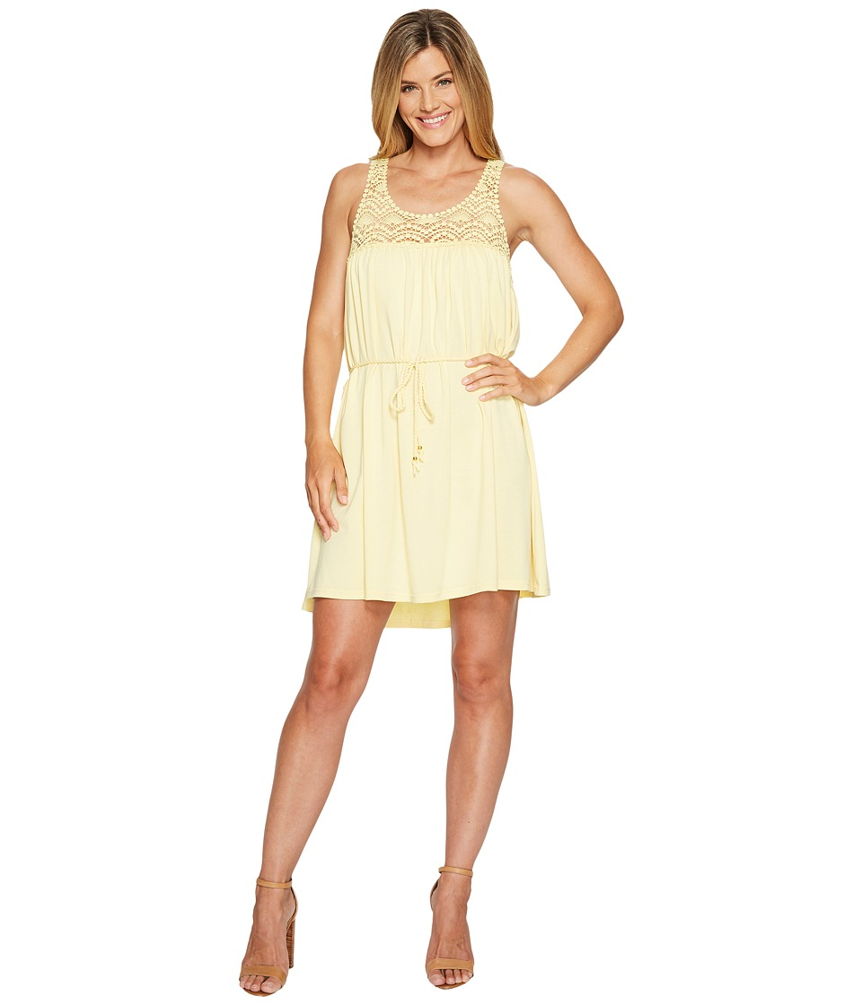 Scully Hanna Lace Top Dress (Yellow) Women
