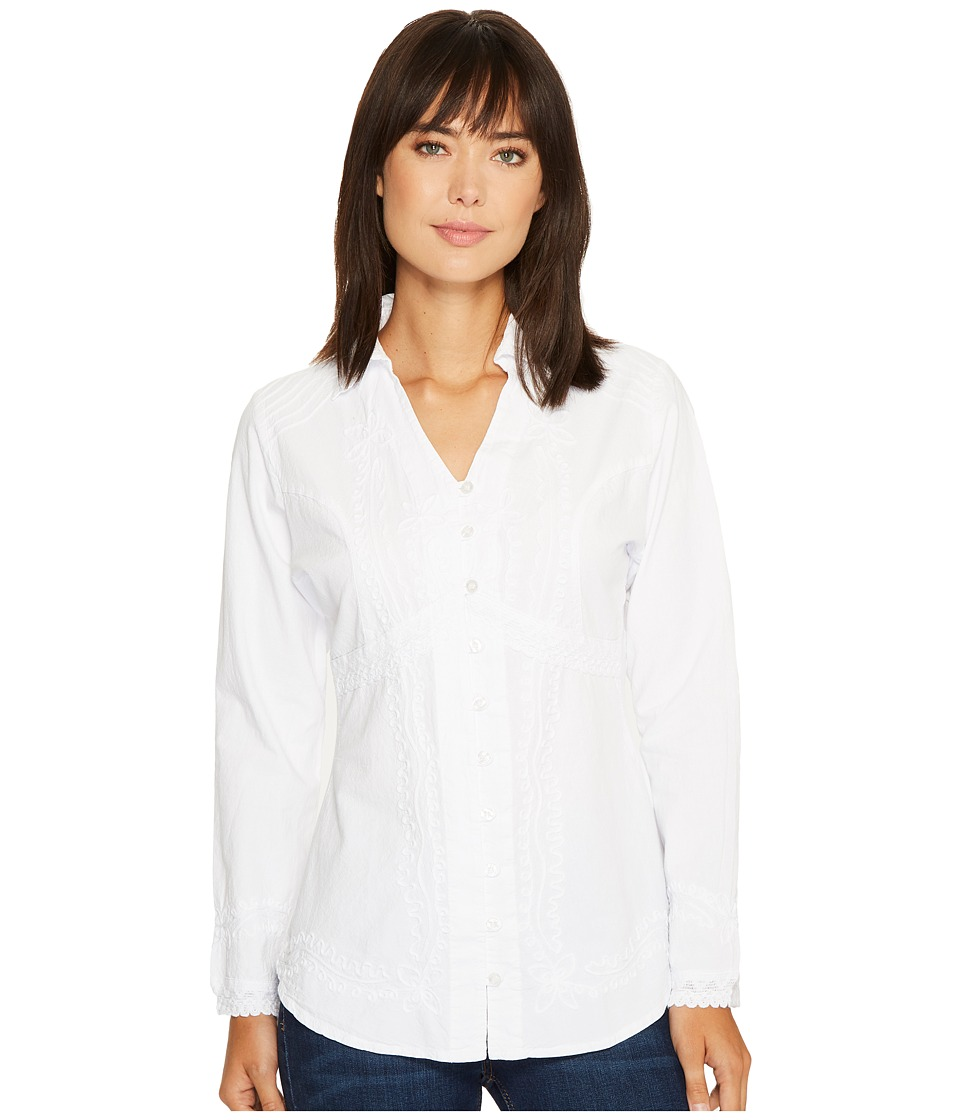 Scully Cantina Zender Peruvian Cotton Top (White) Women