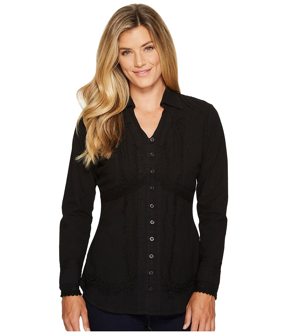 Scully Cantina Zender Peruvian Cotton Top (Black) Women
