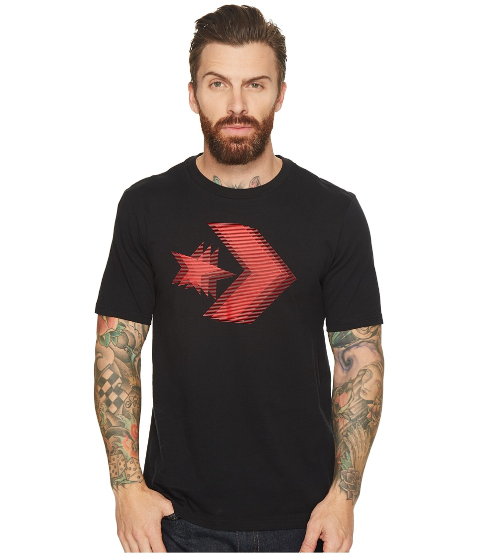 Converse Lenticular Star Chevron T-Shirt (Black) Men