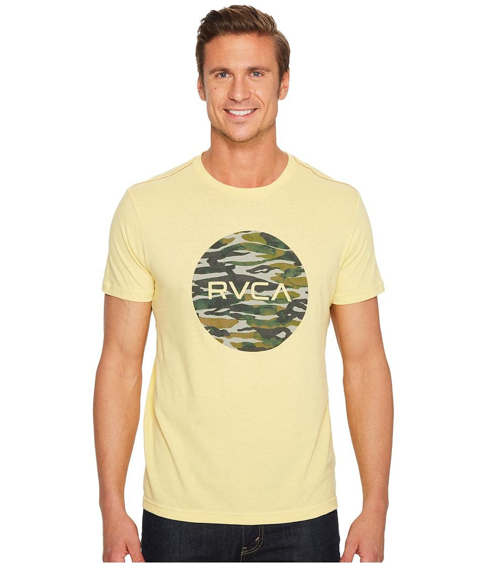RVCA - Water Camo Motors Tee (Bright Lemon) Mens T Shirt