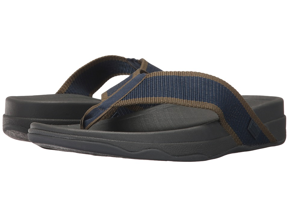 FitFlop - Surfer (Midnight Navy/Dark Olive) Men's Sandals