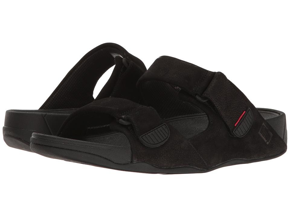 FitFlop - Gogh Slide Adjustable (Black 1) Mens  Shoes