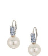 Majorica - 10mm Pearl Blue CZ Sterling Silver Earrings