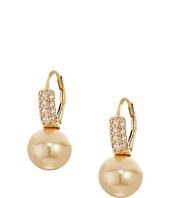 Majorica - 12mm Round CZ Gold Plated Earrings