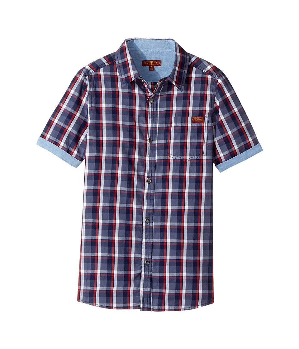 7 For All Mankind Kids - Button Down Short Sleeve Woven