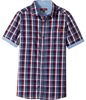 7 For All Mankind Kids - Button Down Short Sleeve Woven (Big Kids)