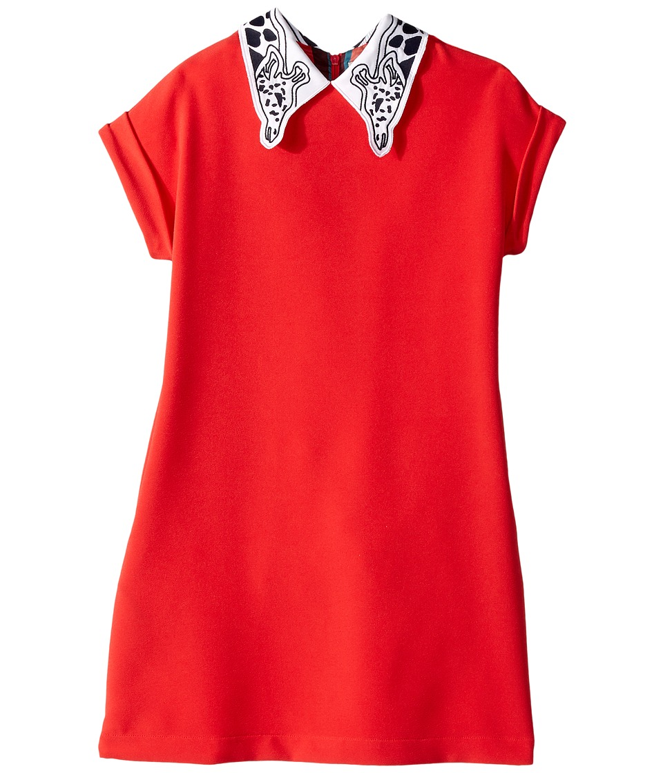 Paul Smith Junior - Solid Coral Dress w/ Giraffe On Collar