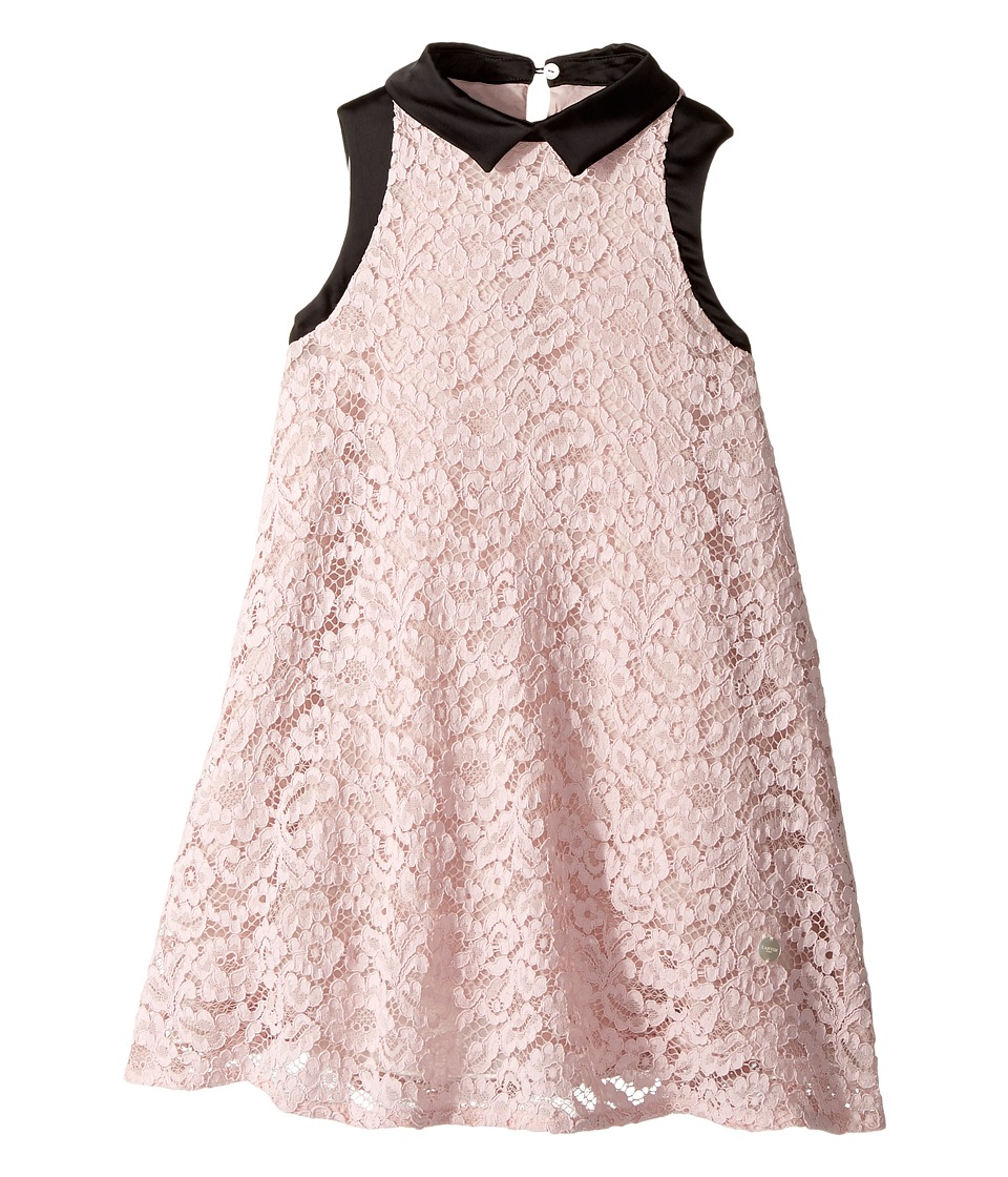 Lanvin Kids - Sleeveless Lace Dress with Contrast Trim