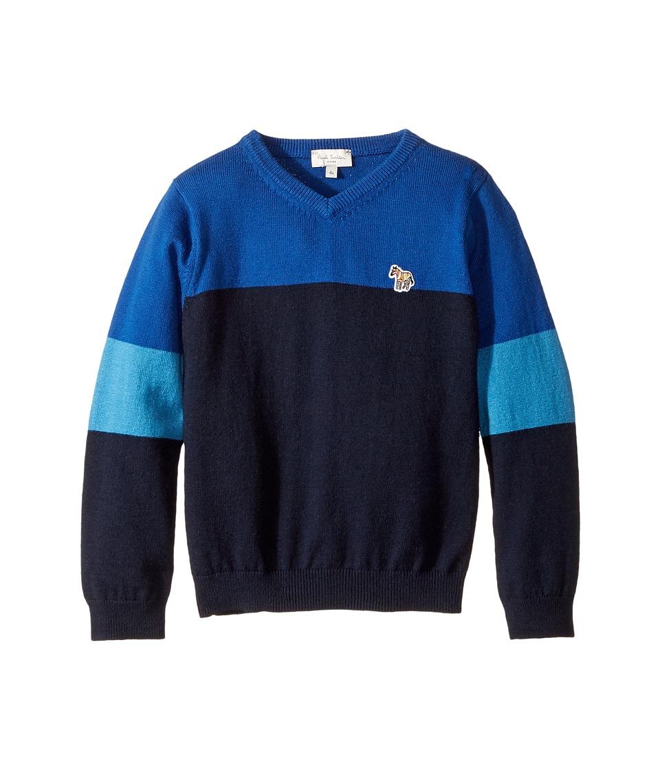 Paul Smith Junior - V-Neck Color Block Sweater