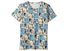 Paul Smith Junior Short Sleeves Space Tee Shirt (Big Kids)