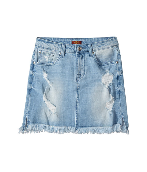 7 For All Mankind Kids Denim Skirt in Bright Bristol (Big Kids) at ...