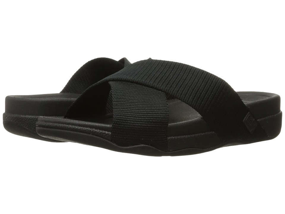 FitFlop - Surfer Slide (Black) Men's Sandals