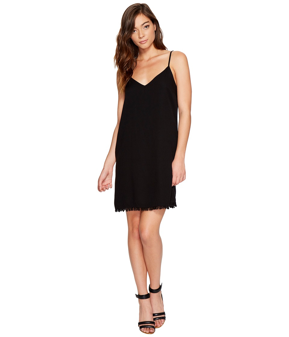 Splendid Rayon Crepe Slip Dress (Black) Women
