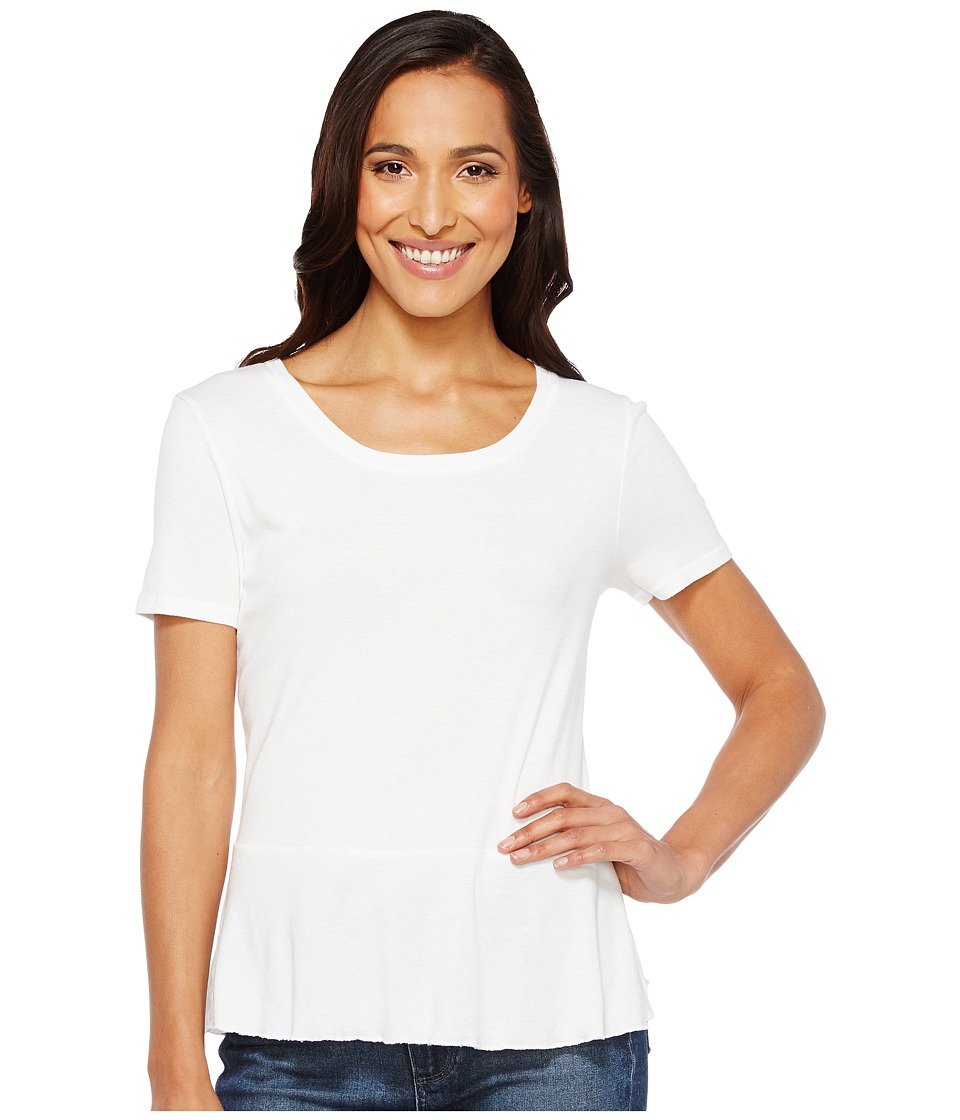 Splendid 1X1 Peplum Tee (White) Women