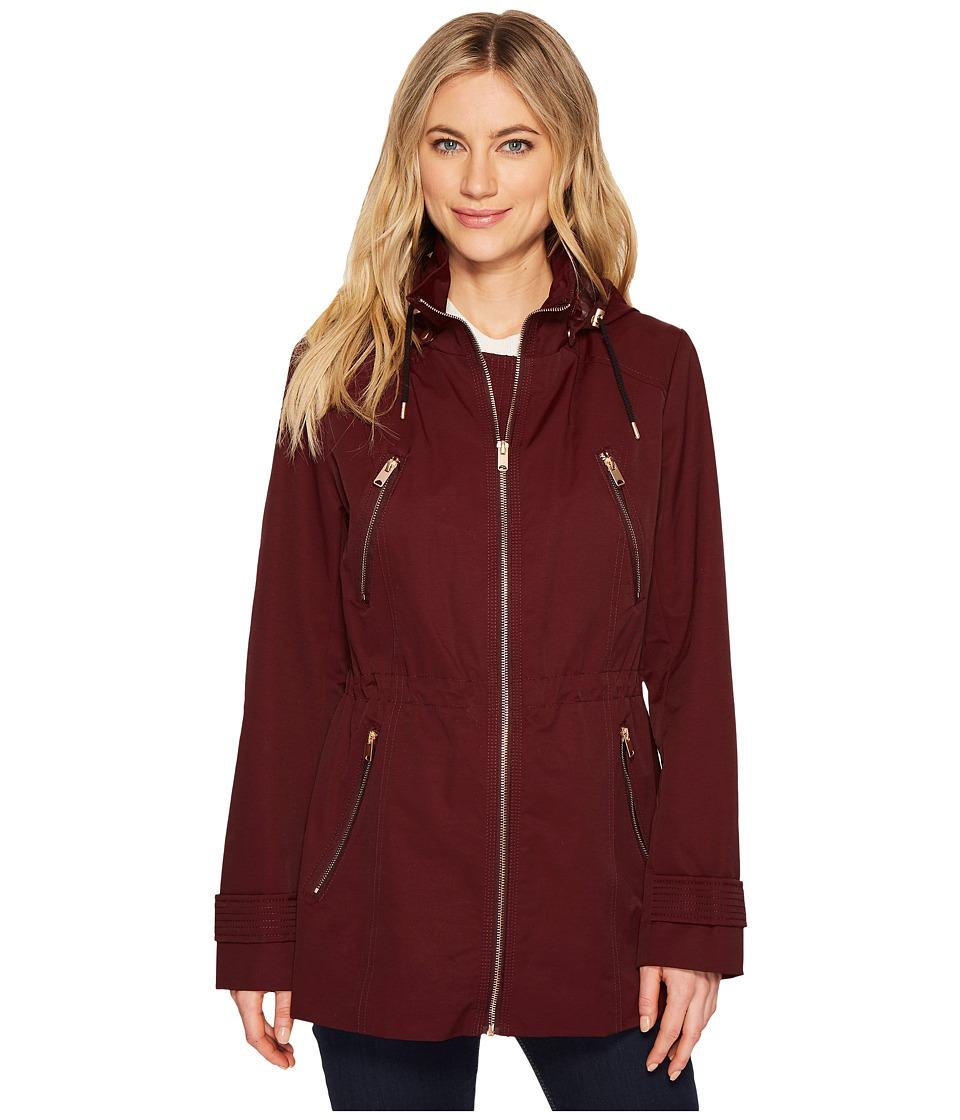 Andrew Marc Tanner 30 Tech Rain Jacket (Burgundy) Women's...