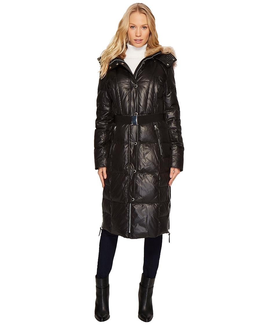 Andrew Marc Liz 42 Lacquer Puffer Maxi Coat (Black) Women...