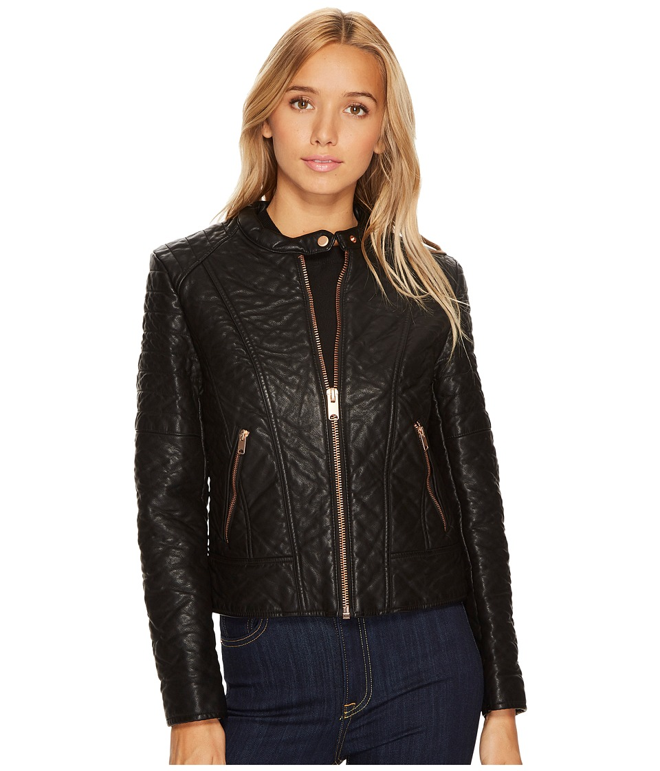Andrew Marc Blakely 21 Faux Bubble Leather Jacket (Black)...