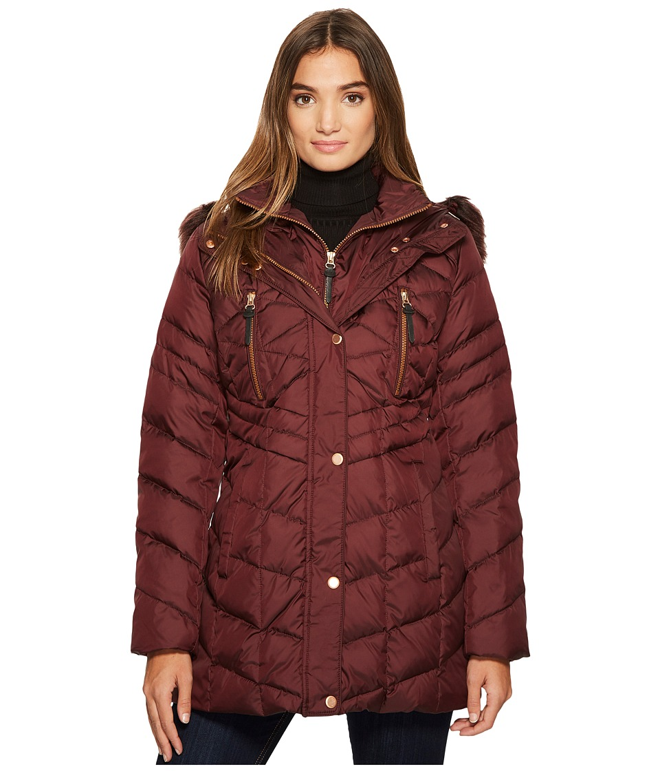 Marc New York by Andrew Marc Marley 30 Matte Down Coat (Burgundy) Women