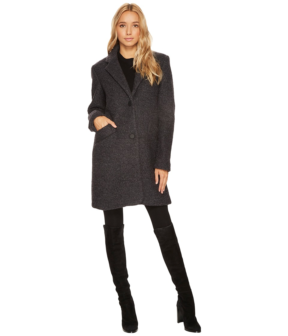 Andrew Marc Paige 35 Pressed Boucle Notch Collar Coat (Ch...