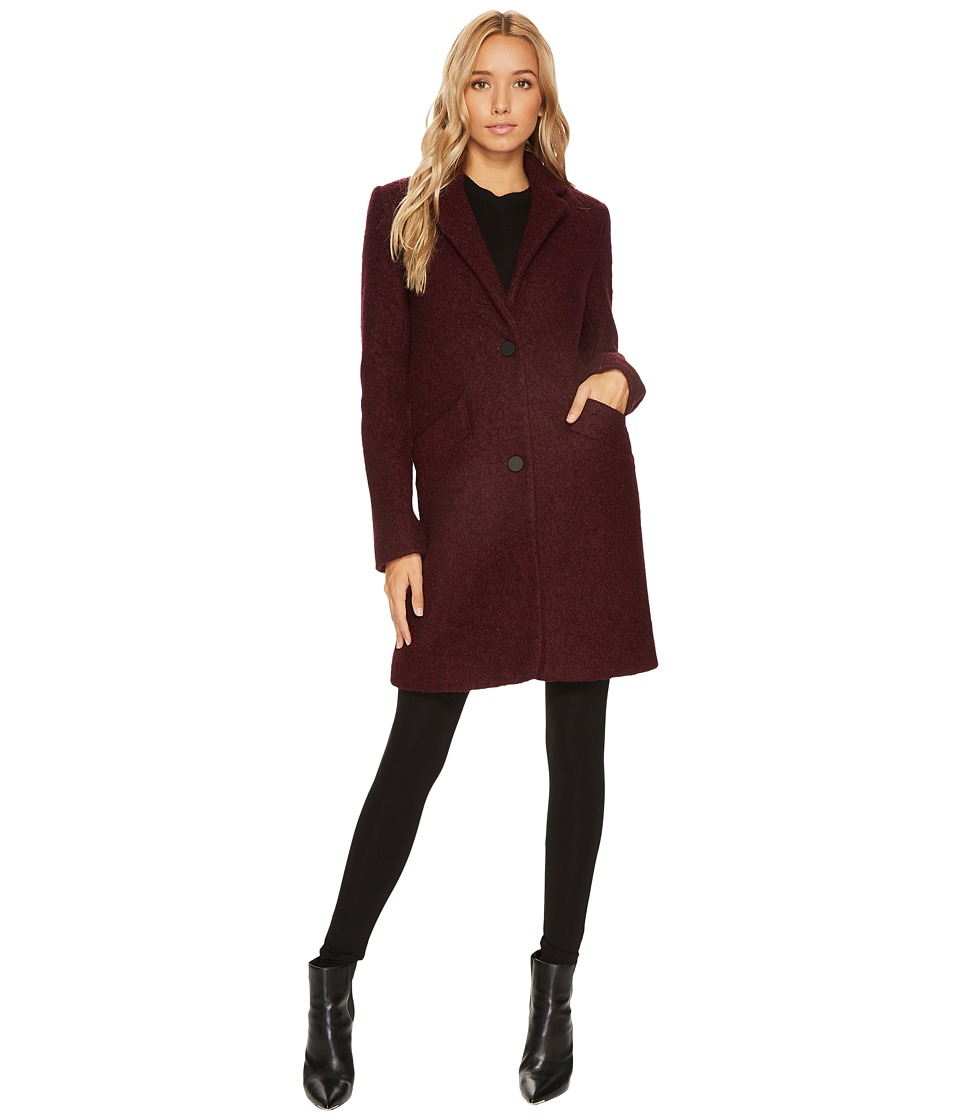 Andrew Marc Paige 35 Pressed Boucle Notch Collar Coat (Bu...