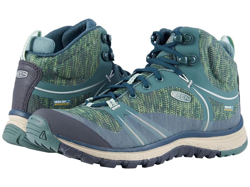 Keen Terradora Mid Waterproof (Duck Green/Quiet Green) Women's Shoes