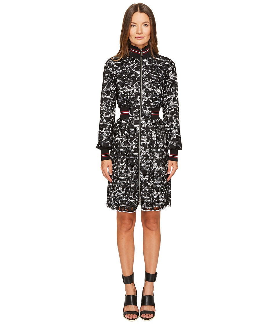 Sonia Rykiel - Lace and Stripe Lined Dress
