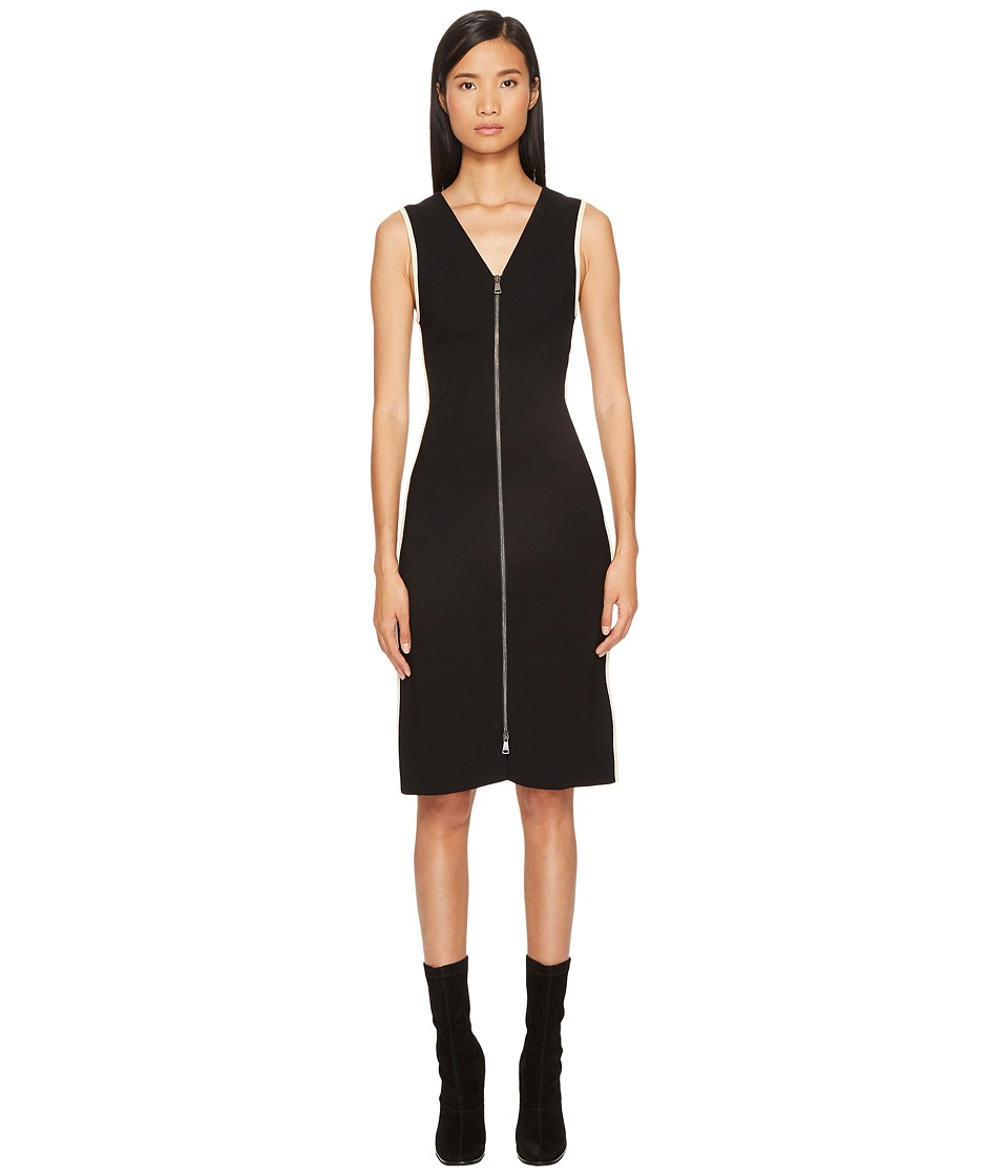 Sonia Rykiel - Plain Crepe Zip Dress (Black) Womens Dress