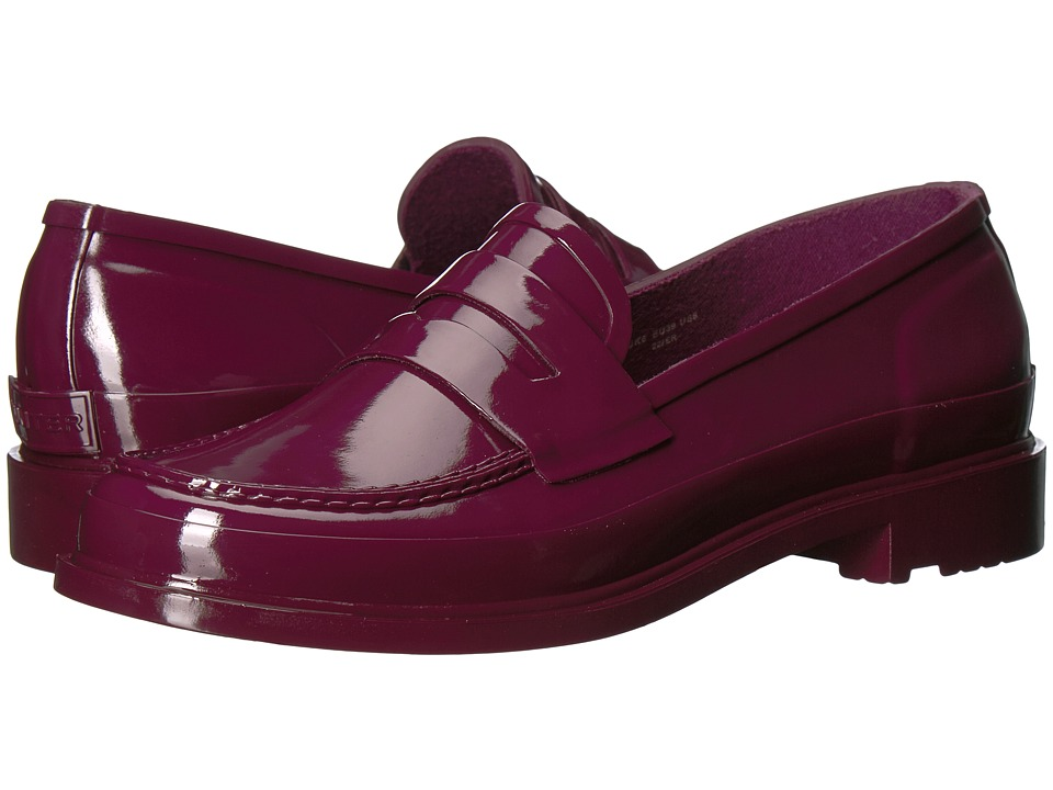 Hunter Original Penny Loafers (Martian Red) Women's Shoes