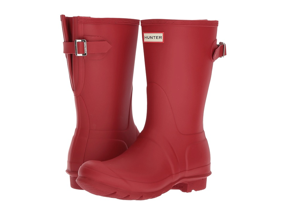Hunter Original Short Back Adjustable Rain Boots (Military Red) Women