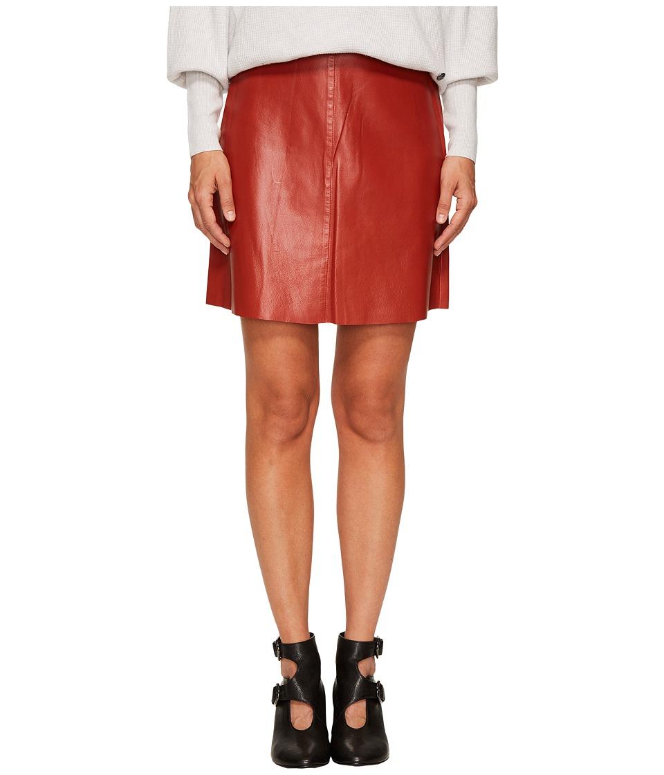 Sonia Rykiel - Thin Lamb Leather Skirt