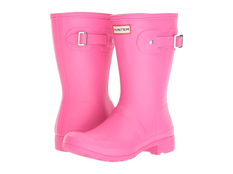 Hunter Original Tour Short Packable Rain Boots (Ion Pink) Women