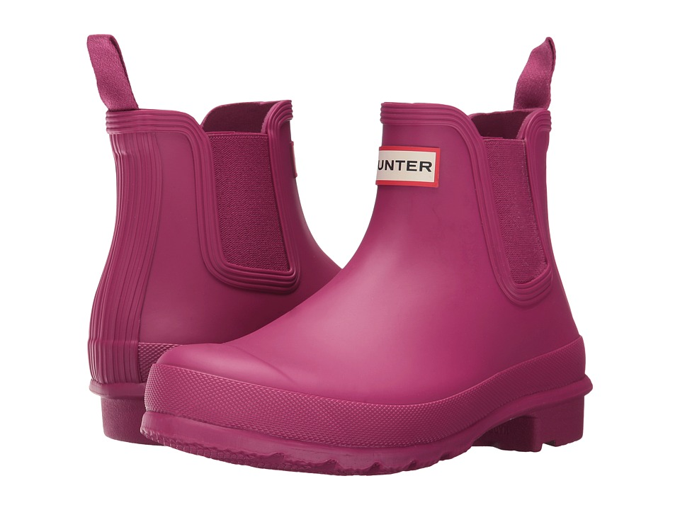 Hunter Original Chelsea Boots (Dark Ion Pink) Women