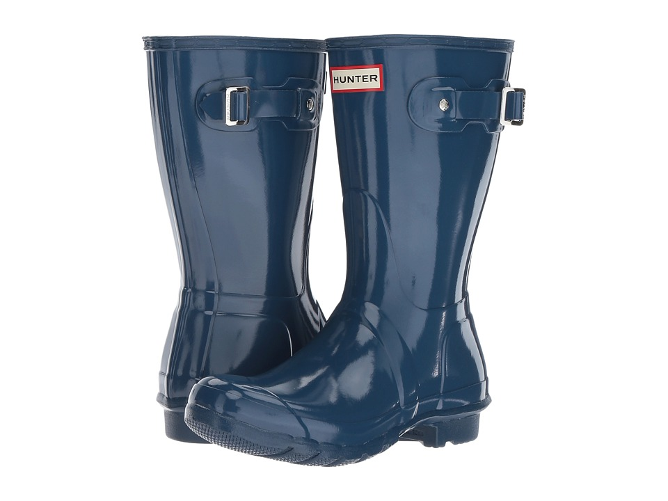 Hunter Original Short Gloss Rain Boots (Dark Earth Blue) Women
